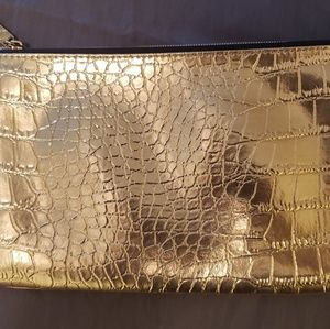 Gold Estee Lauder bag